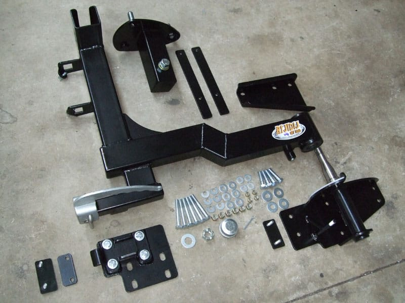 Defender Single Spare Wheel Carrier For Drop Down Tailgate