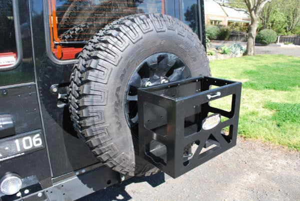 Wheel Mounted Jerry Can Holder